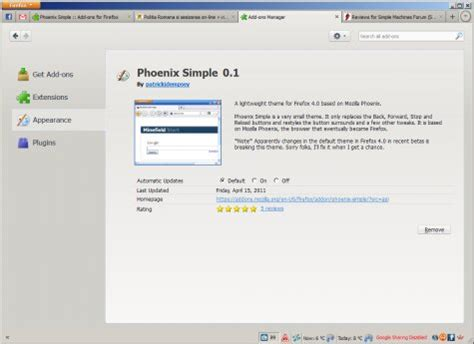 firefox themes simple white firefox theme of the week phoenix simple