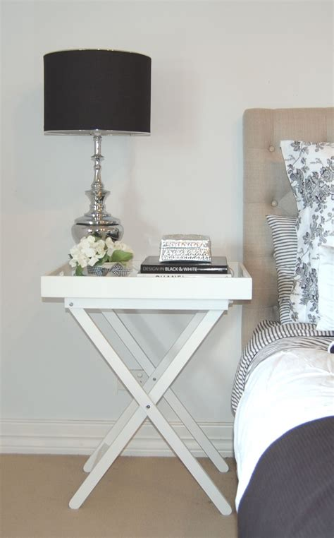 Bedroom Bedside Table Ls by White Butlers Tray Table As A Bedside My Boudo