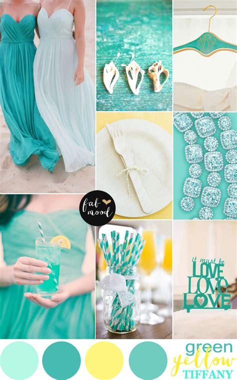 Azure Wedding Concept by Yellow Mint Green Wedding Palette