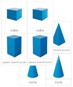 printable montessori geometric shapes 1000 images about rekenen geometrie on pinterest 3d