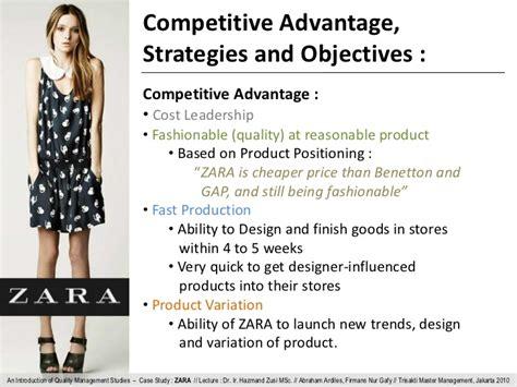 zara layout strategy quality management zara
