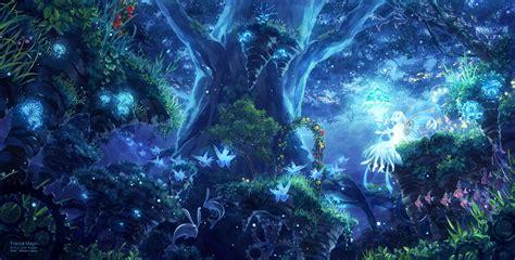 wallpaper blue anime blue flower anime 1 cool hd wallpaper hdflowerwallpaper com