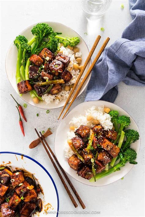general tso tofu crispy tofu without deep frying