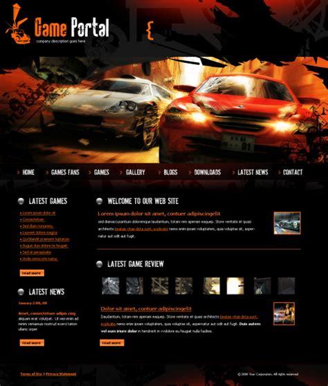 game design websites free game portal html template 4251 cars transportation