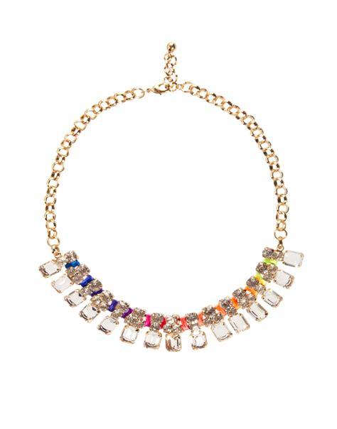 flash trash flash trash rainbow necklace at asos