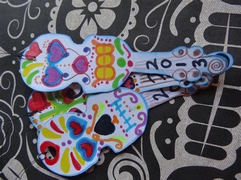 printable skull bookmarks how to make violin sugar skull bookmarks snapguide