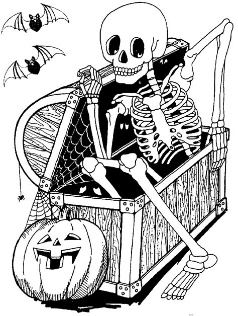 free coloring pages of skeleton and jackolantern ciao bambini 2010 10 17