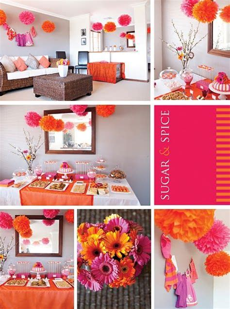 Orange Baby Shower Themes by Baby Shower Themes Orange Pink And On