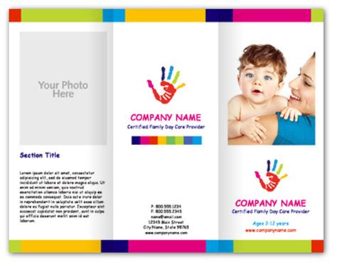 child care brochure templates dtp ideas on business card templates business