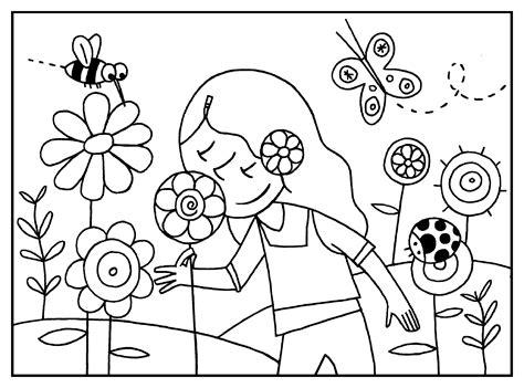 Imagenes Para Colorear Primavera   dibujos para colorear de primavera colorea online gratis