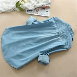 Lace Polka Denim Shirt sweet polka dot with lace denim shirt on storenvy