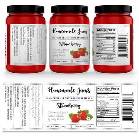 Aufkleber Marmelade by Strawberry Jam Label Template Design