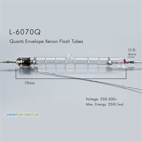 uv l quartz l 6070q uv quartz xenon flashtube 6 0x70mm ipl l