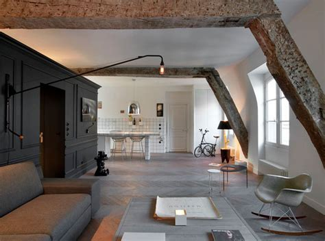 attic apartment small renovated attic apartment in paris with functional