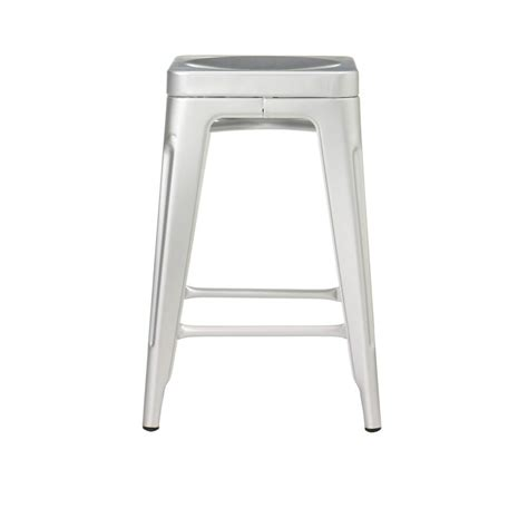 home decorators collection bar stools home decorators collection garden 24 in brushed aluminum