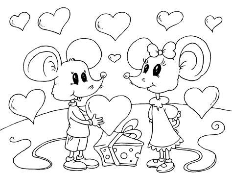 imagenes de amor para recortar ratones enamorados el dia de san valentin para imprimir