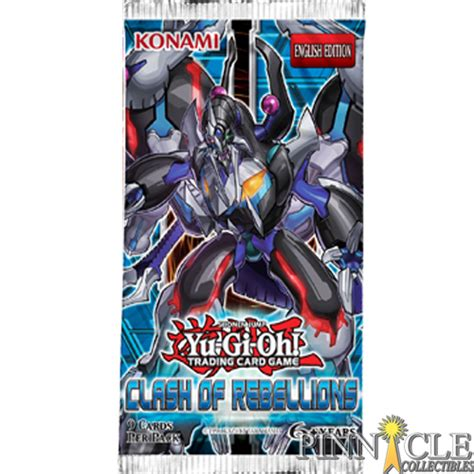 Yugioh Card Pack 9 Card yu gi oh clash of rebellions sealed booster pack 9 cards