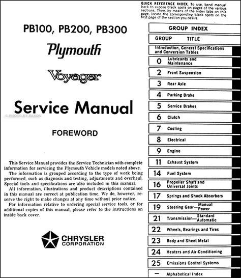 service manuals schematics 1993 plymouth grand voyager navigation system 1974 plymouth voyager van repair shop manual original