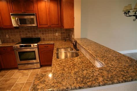 Kitchen Countertops Las Vegas by Baltic Brown Granite In Kitchen Photo