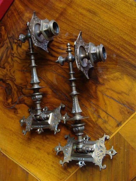 kerzenhalter vintage 2 bronze kerzenhalter klavierleuchter wandleuchter spiegel
