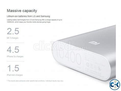 Xiaomi Powerbank 10400 Mah Original Silver original xiaomi 10400 mah power bank clickbd