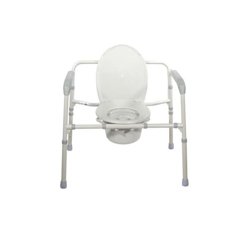 heavy duty bariatric folding bedside commode seat drive