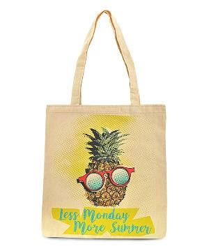 Rope Handle Canvas Tote Bag Intl yellow summer tote