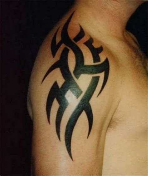 mens tribal shoulder tattoo 27 beautiful tribal shoulder tattoos only tribal