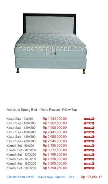 Kasur Central Bekasi daftar harga astroland harga bed termurah di