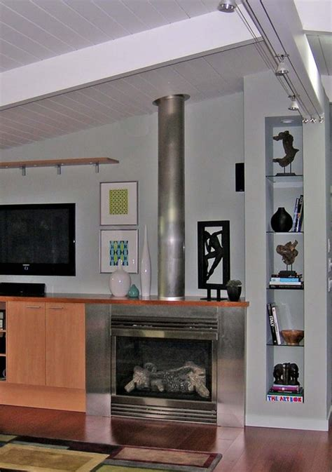 sourcing for a stainless steel exposed fireplace flue