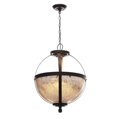 Sea Gull Lighting Pendant Sea Gull Lighting Sfera 3 Light Autumn Bronze Pendant With Mercury Glass 6610403 715 The Home