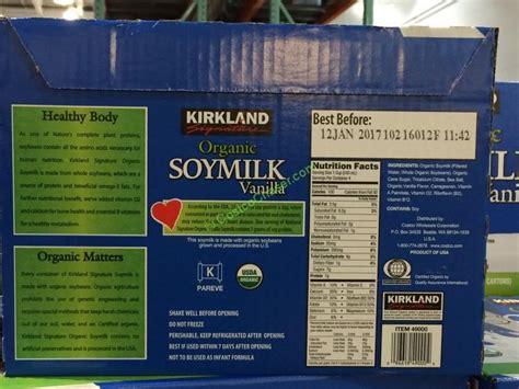 costco kirkland milk kirkland signature organic vanilla soy milk 12 32 oz