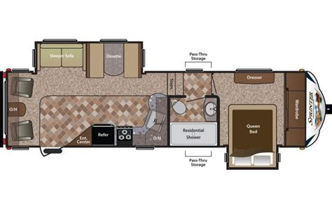 sprinter fifth wheel floor plans 2014 keystone sprinter copper canyon 269fwrls fifth wheel