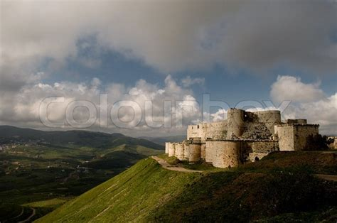 krak des chevaliers crusader castle stock photo colourbox