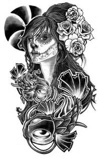 Pin up girl half sleeve tattoo design covers the shoulder and