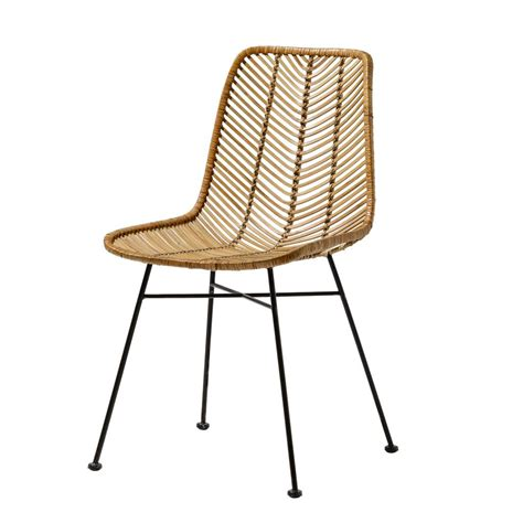 chaise designer bloomingville chaise lena rotin naturel bloomingville