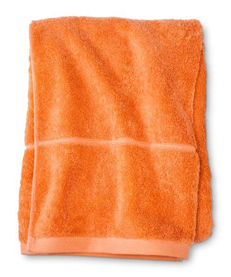 orange towels bathroom orange bath decor by color