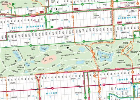 san francisco golf map san francisco map golden gate park