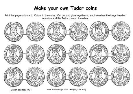new year coin template tudor coins printable 2