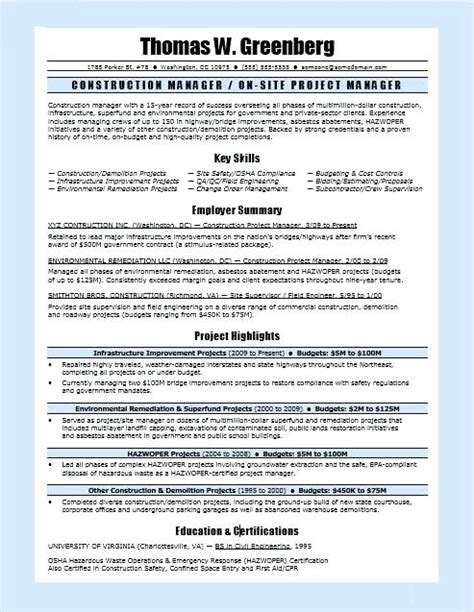 20 project manager resume objective lock resume