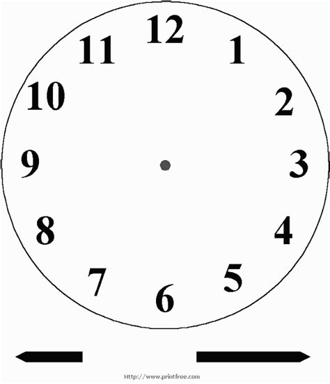 clock faces to print free