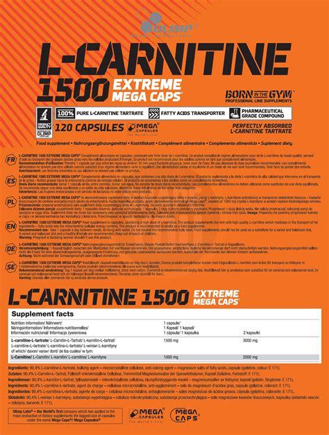l carnitin wann nehmen olimp l carnitine 1500 mega caps 120 kapseln