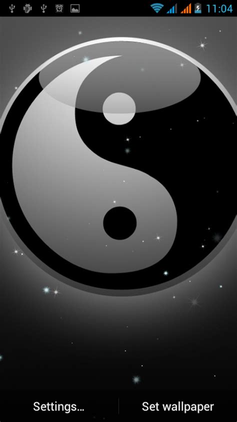 wallpaper animado anime android yin yang papel parede animado apps para android no