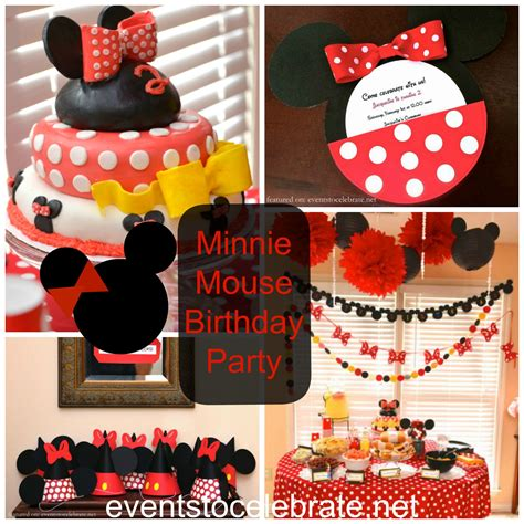 Pom 10 Stelan Minnie Black mickey mouse clubhouse birthday archives events to