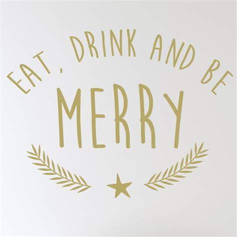 Wall Writing Stickers Uk eat drink and be merry wall sticker wallstickers co uk