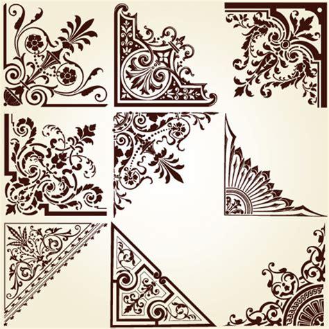 vintage ornament vector pattern vintage corner page border free vector download 12 653