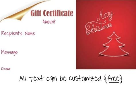 printable christmas gift certificate maker free editable christmas gift certificate template 23 designs
