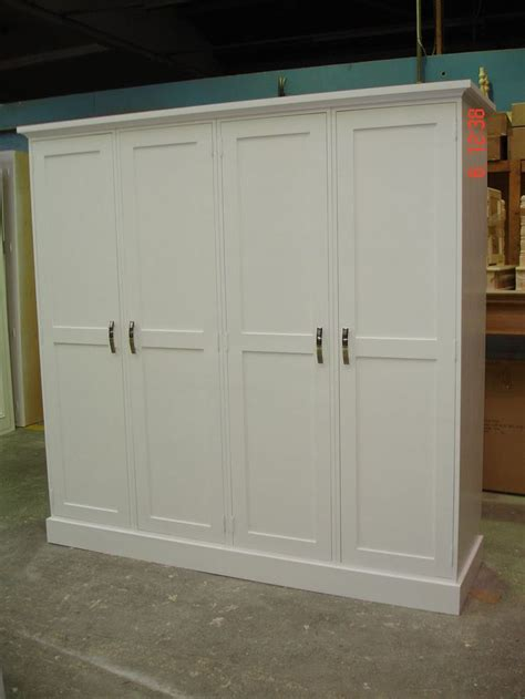 details about white painted large 4 door solid pine shaker