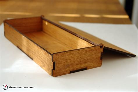 Laser Cut Wood Box Template by Crafted Wooden Boxes By Steven Mattern Design Build