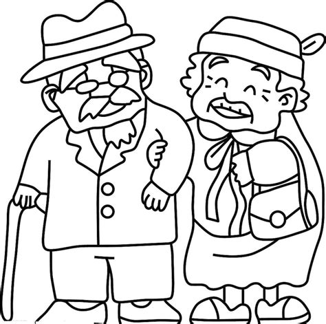 grandma coloring pages grandma and grandpa coloring pages